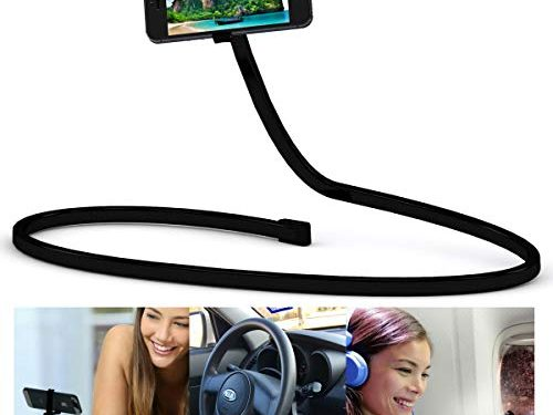 More Versatile Than a Tripod. Lazy Neck Gooseneck Adjustable Arm, Removable Mount for Desk, Table or Bed. Universal Fit Apple, Samsung Galaxy. 360 Swivel. – Geekx Cell Phone Holder, iPhone Stand