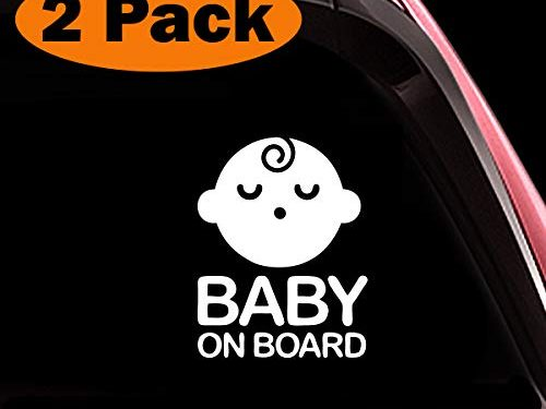 Safety Caution Decal Sign Stickers for Cars Windows Bumpers – TOTOMO Baby on Board Sticker – Seelping Baby Boy ALI-026