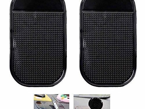 Ganvol 2 Pack Anti-Slip Car Dash Sticky Pads, Heat Resistant Non-Slip Mats, Dashboard Holder 5.3 x 2.7 inch – Leave no Residue Don't Melt Under Hot Temperature, Reusable After Washing Off Dust