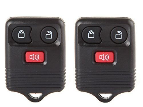 ECCPP Replacement fit for 2X 3 Button Keyless Entry Remote Transmitter Control Key Fob Clicker Ford Mazda Lincoln Mercury Series CWTWB1U212