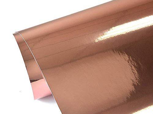 TECKWRAP Chrome Mirror Rose Gold Vinyl Wrap Car Sticker Adhesive with Air Release 11.5″x55″