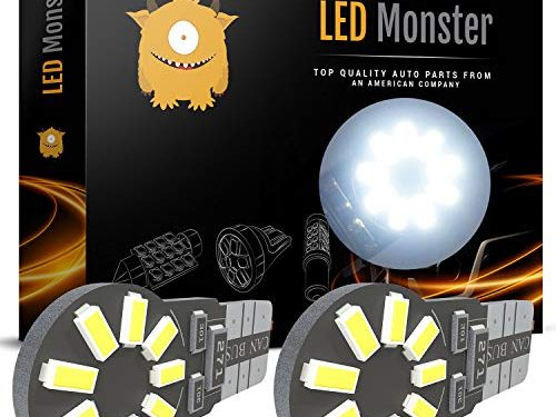 3 Years Warranty – Automotive Accessories for Car & Truck – LED Monster 194 Led Bulb 6000K White – T10 LED Bulbs 12 Volt – Luces Led Para Autos – Best For License Plate Light & Dome Light Position
