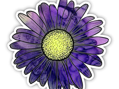 Vinyl Junkie Graphics Daisy Flower Sticker for Car Truck Windows Laptop Any Smooth Surface Waterproof Purple Haze