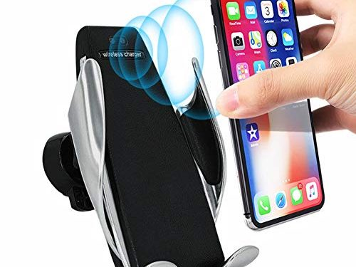 Automatic Sensor Wireless Car Charger Mount, 7.5W / 10W Auto-Clamping Dashboard & Vent Phone Holder Compatible with iPhone Xs MAX/XR/XS/X/8/8 Plus, Samsung Galaxy Note 9/S9/S9 Plus/S8