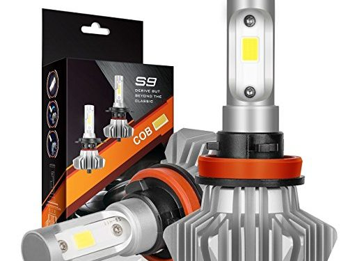 1 Year Warranty – AutoFeel H11 LED Headlight Bulbs 7000LM IP68 Super Bright Car Exterior White Light Built-in Driver Lamp All-in-One Conversion Bulb Kit with Cool White Lights