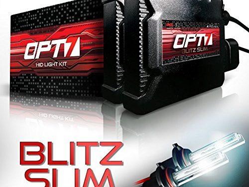 2 Yr Warranty 5000K Bright White Xenon Light – 3.5X Brighter – All Bulb Sizes and Colors – OPT7 Blitz Slim H7 HID Kit – 4X Longer Life