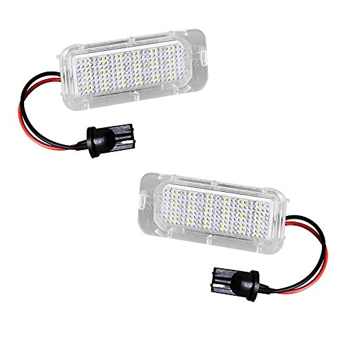 Ijdmtoy White Led Under Side Mirror Puddle Lights For Ford