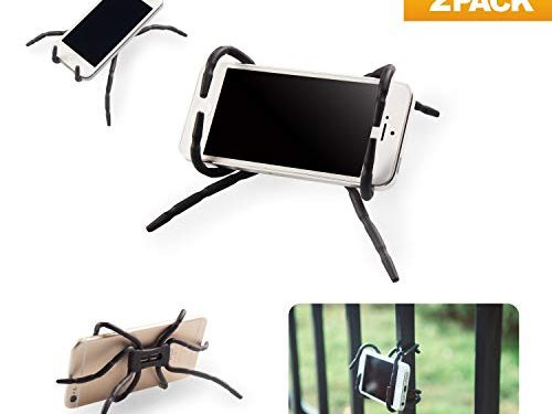 Spider Phone Holder Universal Multi-Function Spider Flexible Grip Holder Phone Car Holder Mount Stand for SmartphoneBlack