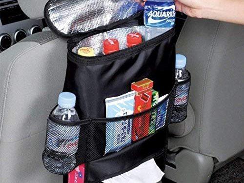 Soslip Wear-Proof Multi-Pocket Car Seat Back Bag Durable Insulation Seat Back Storage Organizers