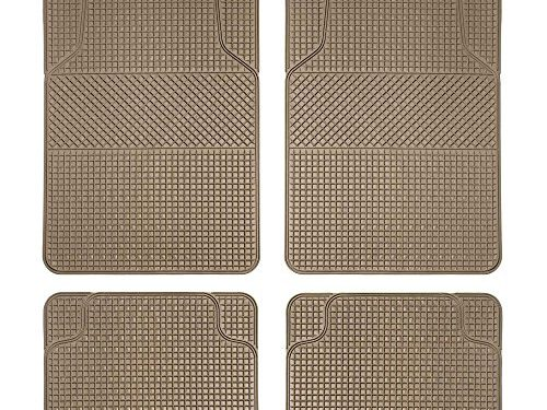 FH Group F11300BEIGE  Checker Style Tan All Weather Floor Mat Anti-Slip