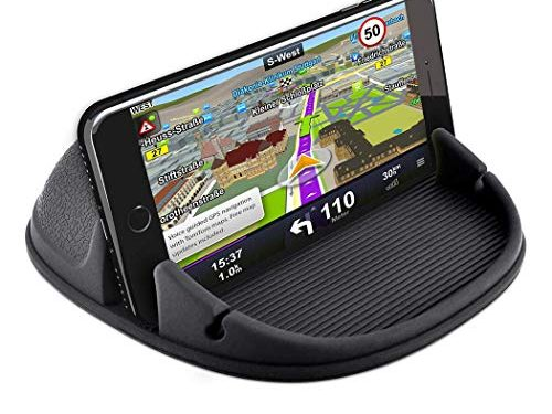 Phone Holder for Car, Besiva Car Phone Mount Silicone Phone Car Dashboard Car Pad Mat Various Dashboards, Anti-Slip Desk Phone Holder Compatible with iPhone, Android Smartphones, GPS