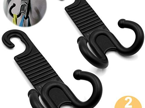 CARSYS Car Back Seat Headrest Hanger Holder Hooks 2 Pack for Umbrellas Purses Pocketbooks Handbags Schoolbags Water Bottles Groceries Coats Laptop Cases Clothes Raincoats Briefcases