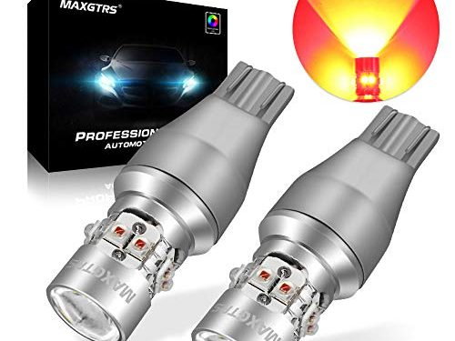 MAXGTRS Red 50W LED Bulb Cree Chip T15 W16W 921 912 Warning Light 360-Degree Shine Lens for The Width Light Turn Lights Signal Light Extremely Bright