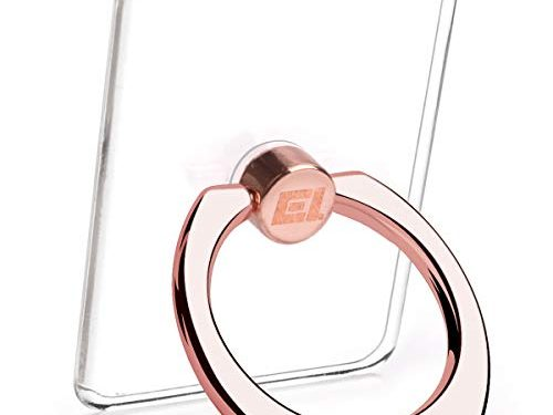 Transparent Phone Ring Stand Holder – EI Sonador Cell Phone Ring Holder Finger Grip 360 Degree Rotation 4 Rose Gold