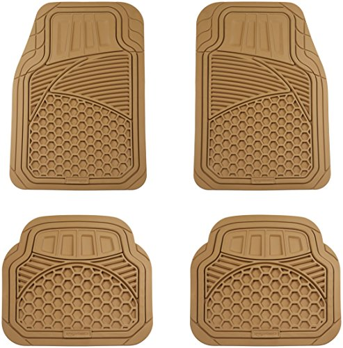Amazonbasics 4 Piece Heavy Duty Car Floor Mat Beige Bipflip