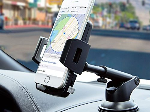 Car Phone Mount,Washable Strong Sticky Dashboard and Windshield Phone Mount Holder with One-Touch Design for iPhone Xs MAX/XS/XR/X/8/8P/7/7P/6s/6P/5S, Galaxy S5/S6/S7/S8/S9, Nexus, LG and More