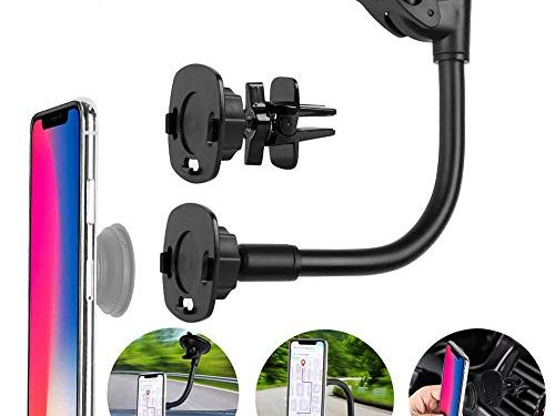Car Mount for Pops Users, 360° Rotation Dashboard/Windshield/Air Vent Pops Out Stand Car Mount Compatible with GPS Navigation or Any Phone with Pops Grips