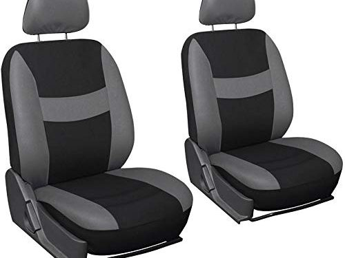 Fits Select Vehicles Car Truck Van SUV – Full Set – Motorup America Low Back Bucket Gray Auto Seat Cover