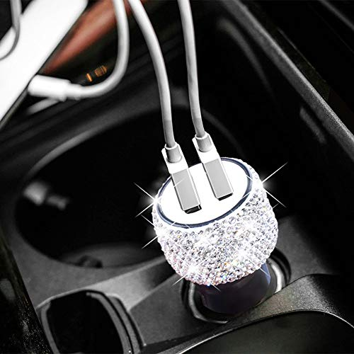 Super PDR Steeing Wheel Cover for Women,Leather Bling Cute Car
