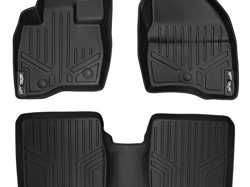 MAX LINER A0245/B0082 Black Floor Mat for Ford Explorer Without Second Center Console 2 Row Set