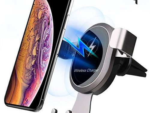 Wireless Charger Car Mount,EASTKING Wireless Car Charger,Air Vent Phone Holder Compatible for iPhone Xs/Xs Max/XR/X / 8/8 Plus, Samsung Galaxy S9 / S8+/ S8 / Note7/S7 and All Qi-Enabled Phones