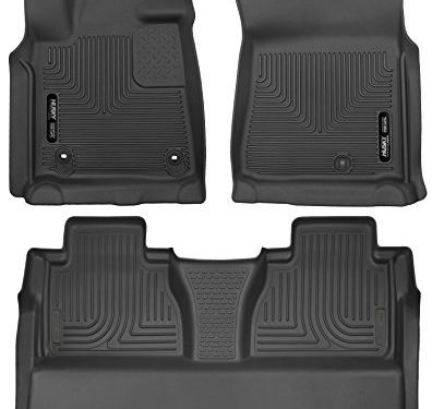 X-Act Contour – First and Second Rows Full Coverage under Second Row Seat All Weather Custom Fit Floor Liners for 2014-2018 Toyota Tundra CrewMax – Husky Liners 53711-53841