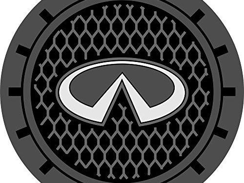 Auto sport 2.75 Inch Diameter Oval Tough Car Logo Vehicle Travel Auto Cup Holder Insert Coaster Can 2 Pcs Pack Infiniti