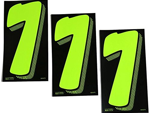 7 1/2 Green Chartreuse Pricing Numbers For Car Dealers 3 Dozen # 7's