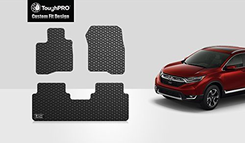 ToughPRO Honda CR-V Floor Mats – All Weather- Heavy Duty – 2017-2018-2019 – Black Rubber