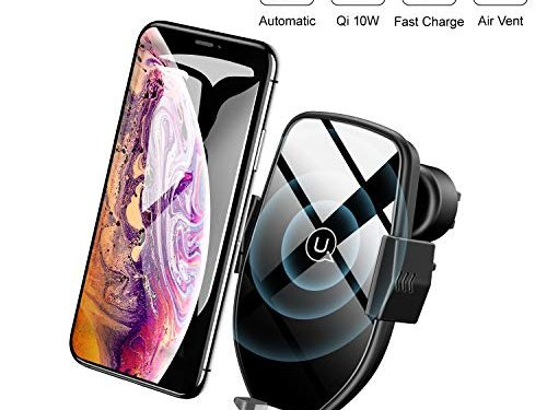 Wireless Charger Car Phone Mount Automatic,Fast Charger Air Vent Phone Holder 10W for Samsung Galaxy S9/S9+/S8/S8+/Note9/Note8,7.5W for iPhone Xs Max/Xs/XR/X/8/8 Plus & All Qi-Enabled Smartphone