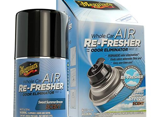 Meguiar's G16602 Whole Car Air Re-Fresher Odor Eliminator – Sweet Summer Breeze Scent, 2 oz
