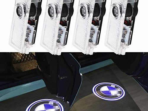 BMW Compatible Door Lights Projector logo Ghost Shadow LED Light for BMW/3/5/6/7/Z/GT Series Accessories 4 Pack