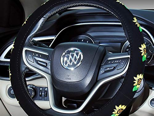 Mayco Bell Automotive Cute Universal Car Steering Wheel Cover 2019 New for Women Sunflower