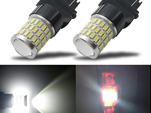 iBrightstar Newest 9-30V Super Bright Low Power 3156 3157 3057 4157 LED Bulbs with Projector Replacement for Back Up Reverse Lights or Tail Brake Lights,Xenon White6500K