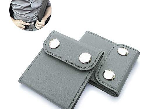ILIVABLE Seatbelt Adjuster, Comfort Universal Auto Shoulder Neck Strap Positioner Clips, Vehicle Seat Belt Covers 2 Pack, Grey