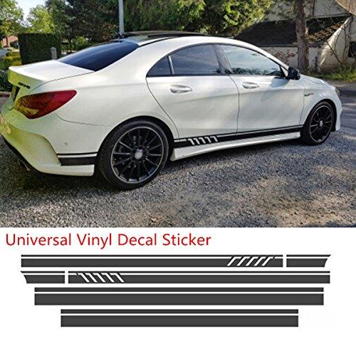Youngfly 2pcs Car Rear View Mirror Stickers Decor Diy Car