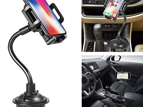 Marrrch Car Phone Mount,360 Degree Adjustable Distance Cup Car Phone Holder Compatible with iPhone Xs/XS MAX/XR/X/8/8Plus/7/7Plus, Galaxy S7/S8/S9, Google Nexus, Huawei and More Black