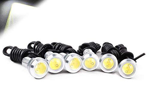 HOTSYSTEM High Power White 9w LED Eagle Eye Bumper Motorcycle Light Tail Light Backup Light for Car Motor 6pcs