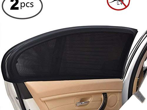 Uarter Universal Car Side Window Baby Kid Pet Breathable Sun Shade Mesh Backseat 2 Pcs Fits Most Small and Medium Cars