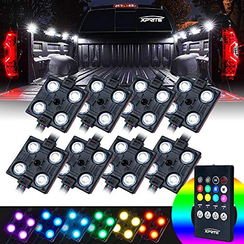 Xprite RGB LED Truck Bed Lights Kit W/Wireless Remote