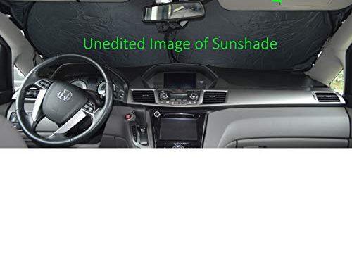 Windshield Sun Shade 240T-Premium Fabric Selection-Chart for Car SUV Trucks Minivans Sunshades Keeps Your Vehicle Cool Heat Shield XXL