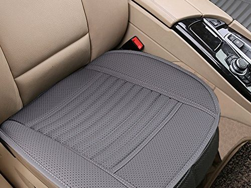 Car Seat Cushion, 1PC Breathable Car Interior Seat Cover Cushion Pad Mat for Auto Supplies Office Chair with PU LeatherGrey