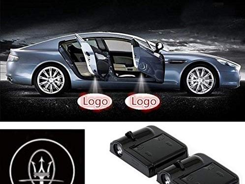 ffomo bearfire 2 Pcs Wireless Car Door Led Welcome Laser Projector Logo Light Ghost Shadow Light Lamp Logos for Maserati Accessory