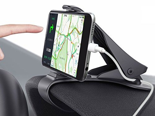Car Phone Holder, MWAY Car Mount HUD Design with Cable Clips, No Blocking for Sight, Durable Dashboard Cell Phone Holder for iPhone 7/7 Plus/6/6S Plus/Samsung,GPS, Huawei, 3.5-6.5 Inches Smartphones