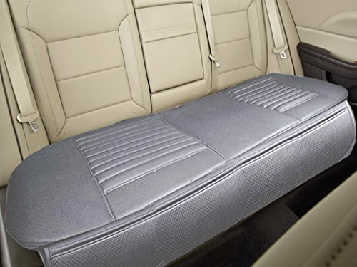 """Nonslip Rear Car Seat Cover Breathable Cushion Pad Mat for Vehicle Supplies with PU LeatherGray- Gray Row 58.3"""" x 18.9"""""""