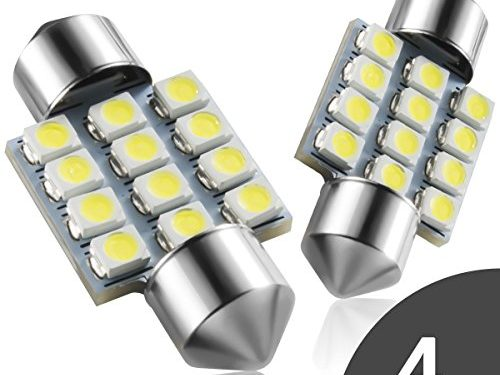 "Marsauto 1.25"" DE3021 DE3022 Festoon bulbs 4 pcs – DE3175 31mm LED Interior Dome Light Map Bulb Door Courtesy For Car"