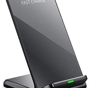 Keyiyou Wireless Charger Stand,10W Fast Qi Wireless Charger Stand Designed For Samsung Galaxy S10/S10+/S9/S9 Plus/S8/Note 8/5/S7,7.5W Wireless Charging Station For Xs Xs Max Xr X 8/8 Plus No Adapter