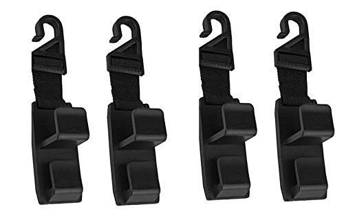 Universal Vehicle Car Seat Strong and Durable Backseat Headrest Hanger Storage for Handbags, Purses, Coats, and Grocery Bags Easy and Fast – YIWON 4 Pack Car Seat Headrest Hooks