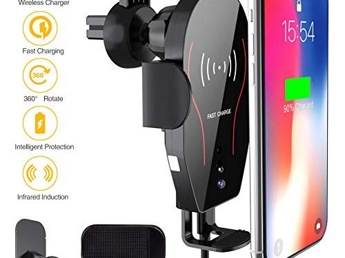 ARCBLD Wireless Charger Car Mount, 10W Qi Certified Power Fast Charge Air Vent Phone Holder, Auto Clamping Adjustable Gravity Car Mount Compatible with iPhone Xs Max/XR/XS/X/8/8 Plus, Galaxy Note 9/S9