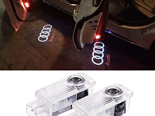 Audi car Accessories Door Logo Led Light Car Door Projector Lights Ghost Shadow Light Audi Puddle Emblem Welcome Lights Reflector For Audi A1 A3 A4 A5 A6 A7 A8 Q3 Q7 R8 TT Auto Accessories Part 2 PCS